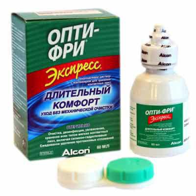Уход за линзами Alcon Раствор для линз Opti-Free Express, 60 мл - фото 1