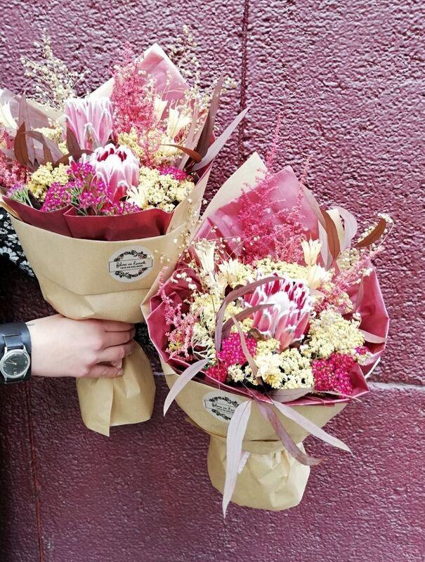Магазин цветов Цветы на Киселева Букет из сухоцветов - фото 1