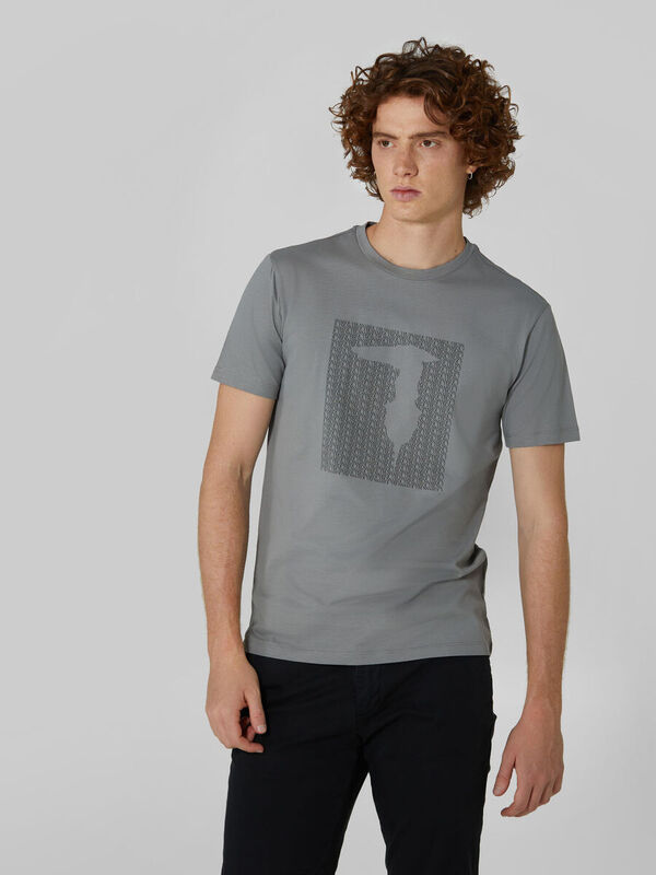 Кофта, рубашка, футболка мужская Trussardi Футболка мужская 52T00311-1T003605 - фото 1