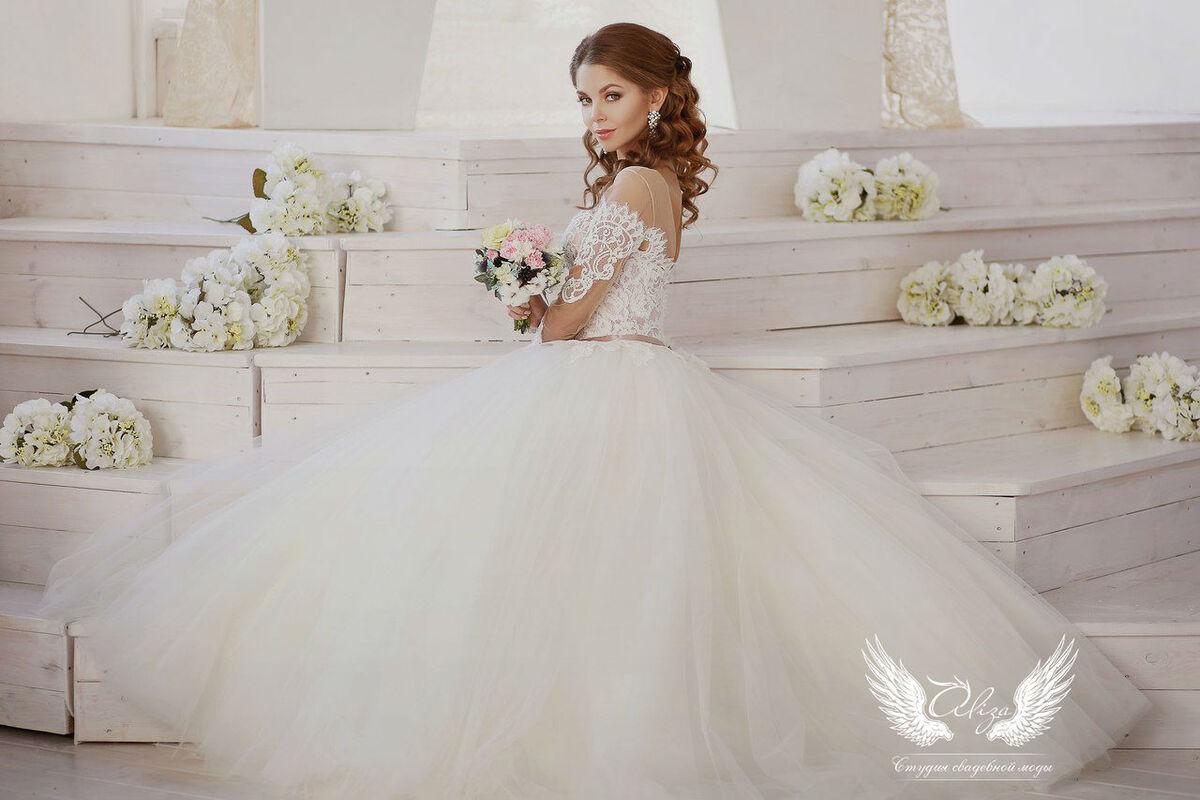 Свадебное платье напрокат ALIZA Платье свадебное «Amor 2» Soffito - фото 2