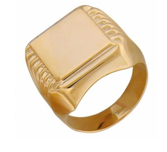 Ювелирный салон Эстет Золотое кольцо 01Т012771 - фото 1