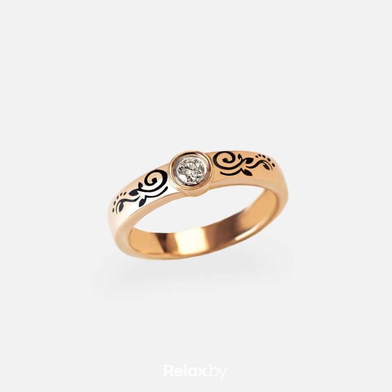 Ювелирный салон Белорусские Бриллианты Кольцо из золота со вставкой бриллиант синт. 21010046 - фото 1