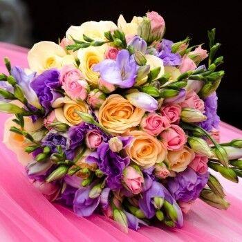 Магазин цветов Ветка сакуры Свадебный букет № 108 - фото 1