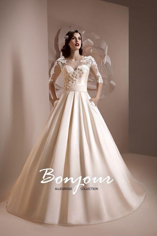 Свадебное платье напрокат Bonjour Платье свадебное «Teodora» из коллекции ALLEGRESSE 2017 - фото 1