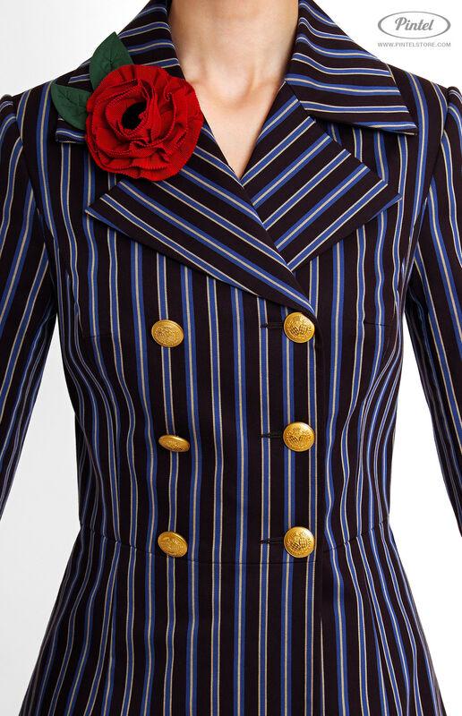 Костюм женский Pintel™ Двубортный брючный костюм Geeah - фото 4