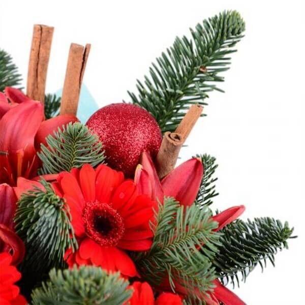 Магазин цветов Букетная Букет «Рождественское чудо» - фото 3