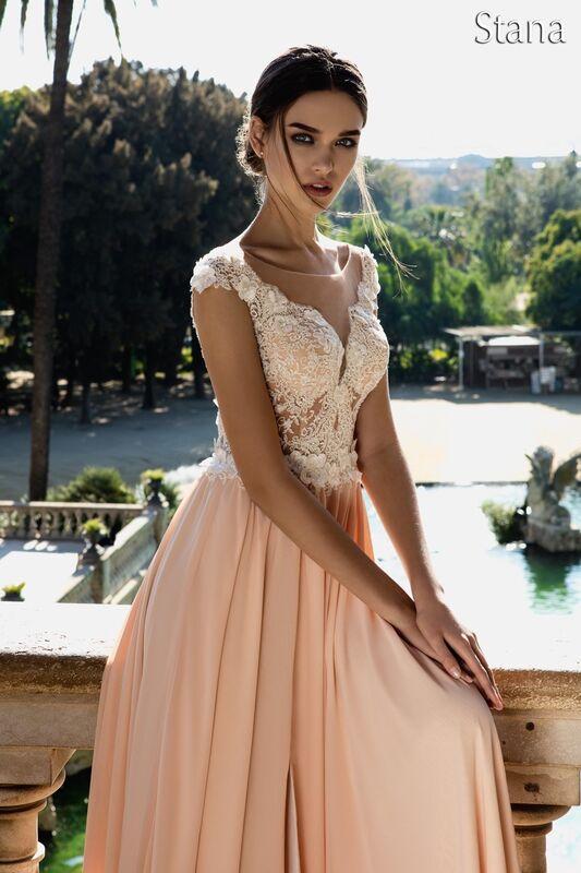 Свадебный салон Bonjour Свадебное платье «Stana» из коллекции LA POESIE 2017 - фото 1