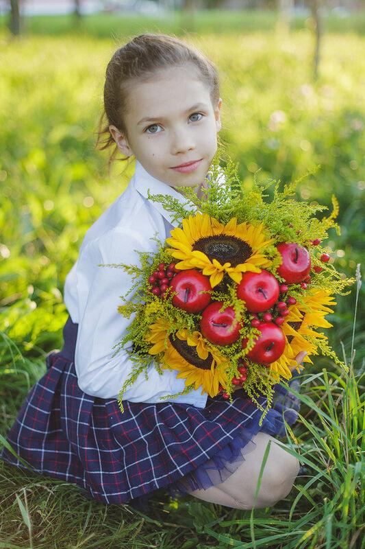 """Магазин цветов Долина цветов Букет  """"УРА, 1 сентября"""" - фото 3"""