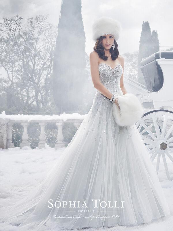 Свадебное платье напрокат Sophia Tolli Платье свадебное Y21521 Danni - фото 1