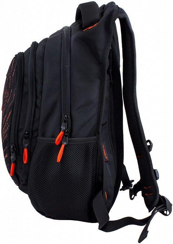 Магазин сумок Winner Рюкзак школьный черно-оранжевый 387 - фото 2