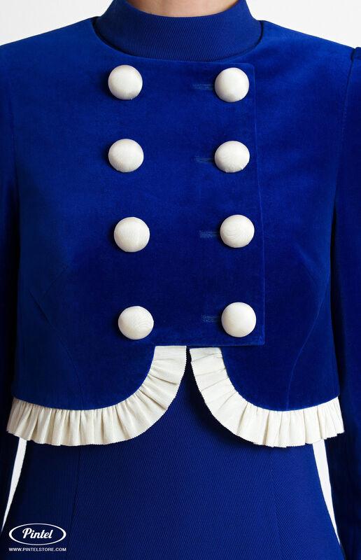 Костюм женский Pintel™ Элегантный комбинированный костюм Momö - фото 7