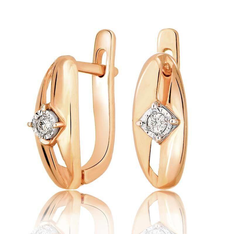 Ювелирный салон Jeweller Karat Серьги золотые с бриллиантами арт. 3222574/9 - фото 1