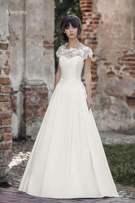 Свадебное платье напрокат Vintage Платье свадебное «Мануэла» - фото 1