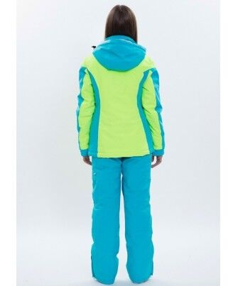 Спортивная одежда Free Flight Женская горнолыжная мембранная куртка салатово-голубая - фото 2
