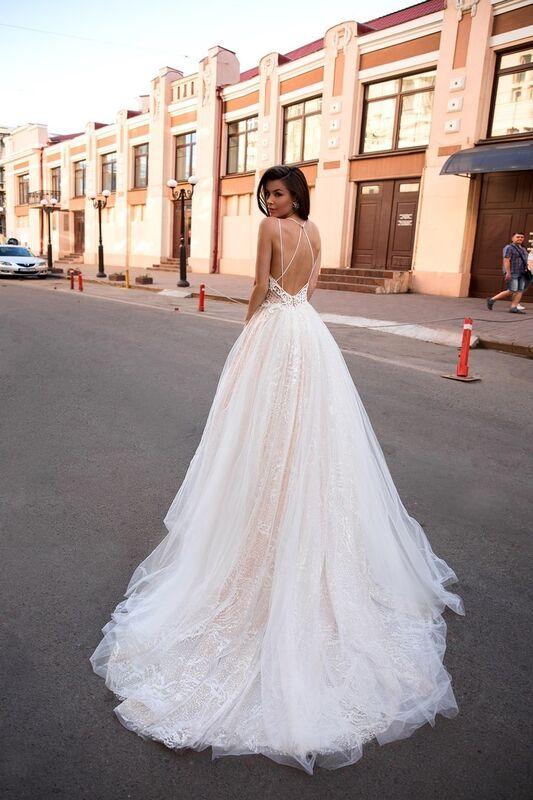 Свадебный салон Ida Torez Свадебное платье Lambis Crocata - фото 3