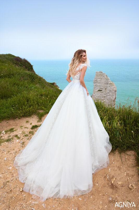 Свадебный салон Bonjour Galerie Свадебное платье AGNIYA из коллекции BON VOYAGE - фото 1