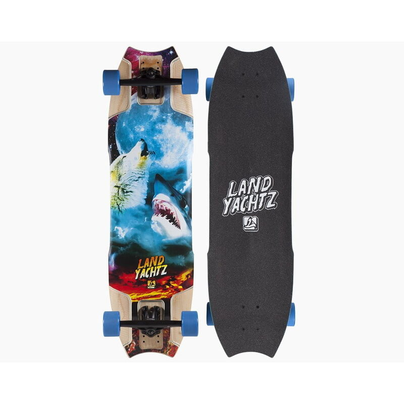 Скейтборд Landyachtz Лонгборд Wolf Shark Re-Issue - фото 1
