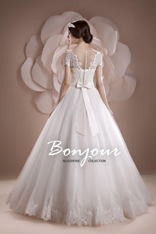 Свадебное платье напрокат Bonjour Платье свадебное «Oris» из коллекции ALLEGRESSE 2017 - фото 2