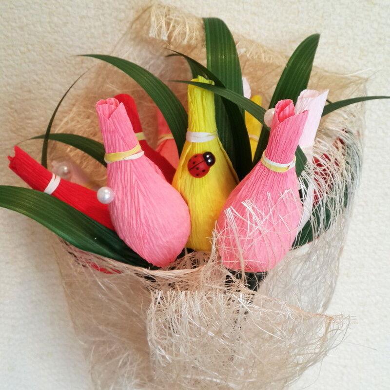Подарок Konfetka Букет из конфет «Весенние тюльпаны» - фото 1