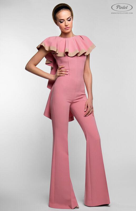 Брюки женские Pintel™ Приталенный розовый макси-комбинезон Linnea - фото 1