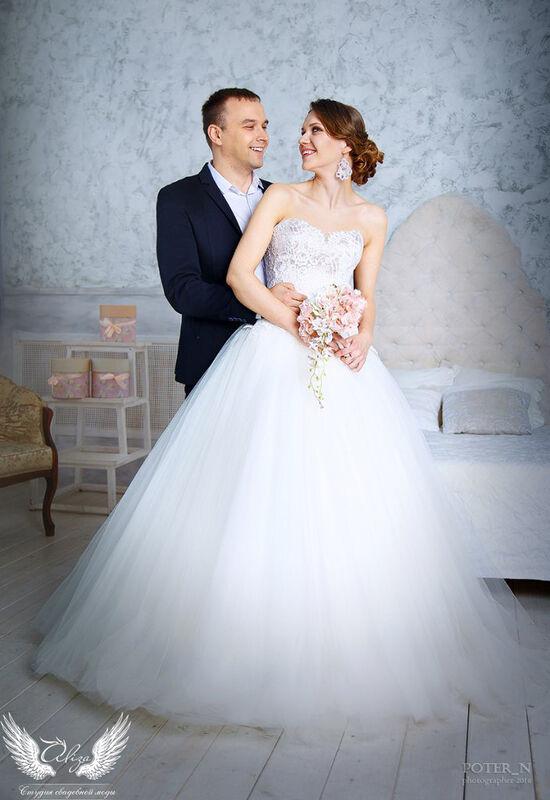 Свадебное платье напрокат ALIZA Платье свадебное «Amor» Soffito - фото 5
