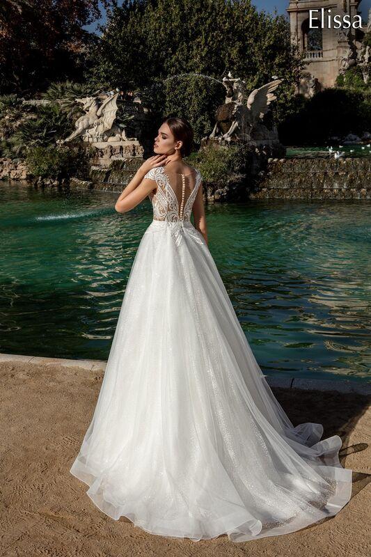 Свадебное платье напрокат Bonjour Платье свадебное «Elissa» из коллекции LA POESIE 2017 - фото 2