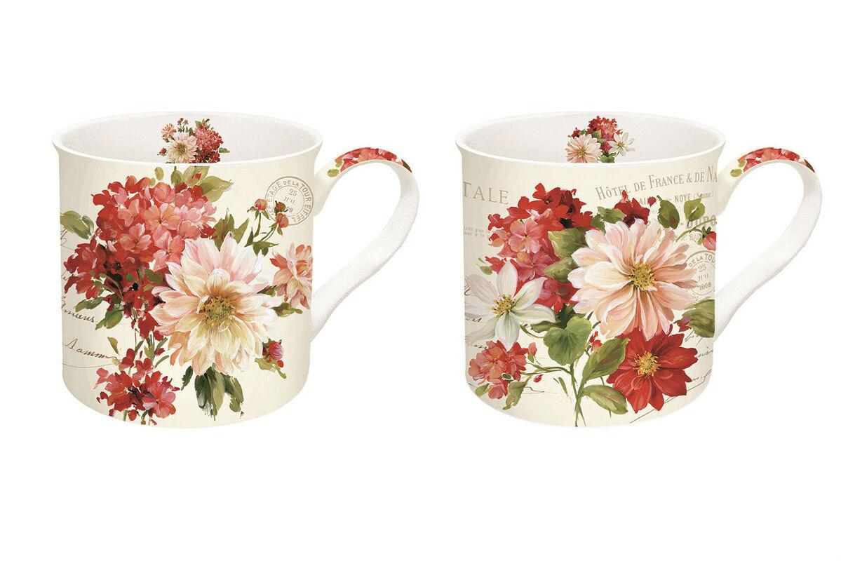 Подарок Nuova R2S Набор из 2-х керамических чашек «Season Flowers» 350 мл, R0612#SEAS - фото 1