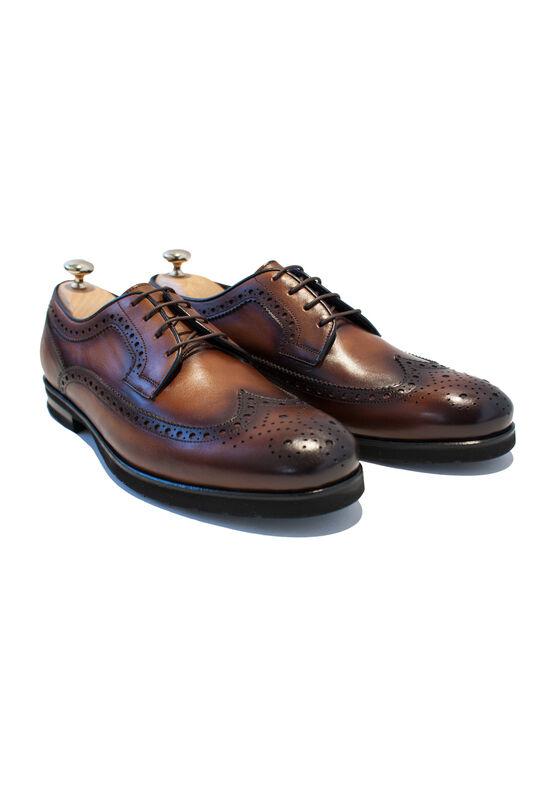 Обувь мужская HISTORIA Туфли мужские, дерби, рыжие/градиент - фото 1