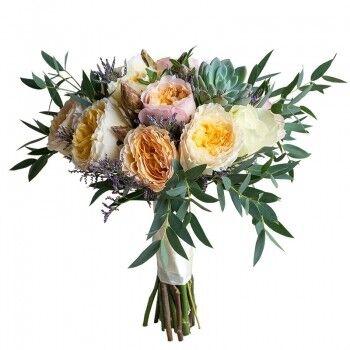 Магазин цветов Ветка сакуры Свадебный букет № 116 - фото 1