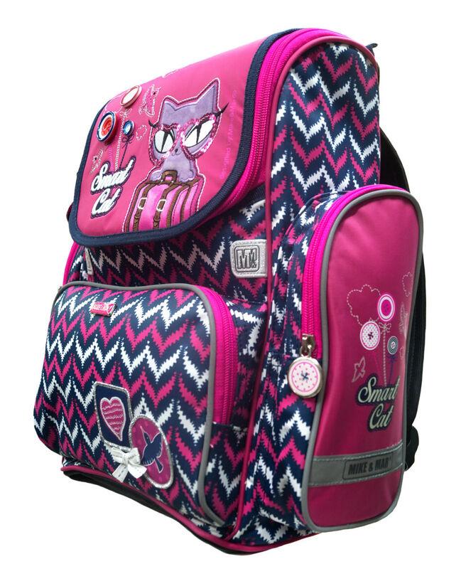 Магазин сумок Mike&Mar Рюкзак школьный 1074-ММ-126 + оригинальный рюкзак для обуви - фото 2