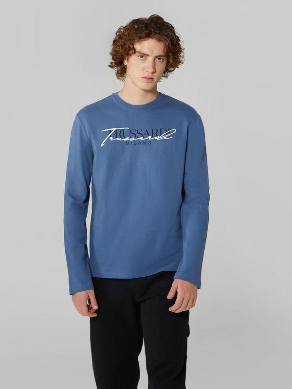 Кофта, рубашка, футболка мужская Trussardi Футболка мужская 52T00383-1T003076 - фото 1