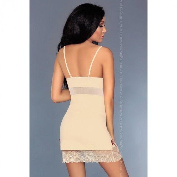 Интим-магазин Livia Corsetti Роскошная кремовая сорочка Lourdes L/XL арт. 90244L/XL - фото 3