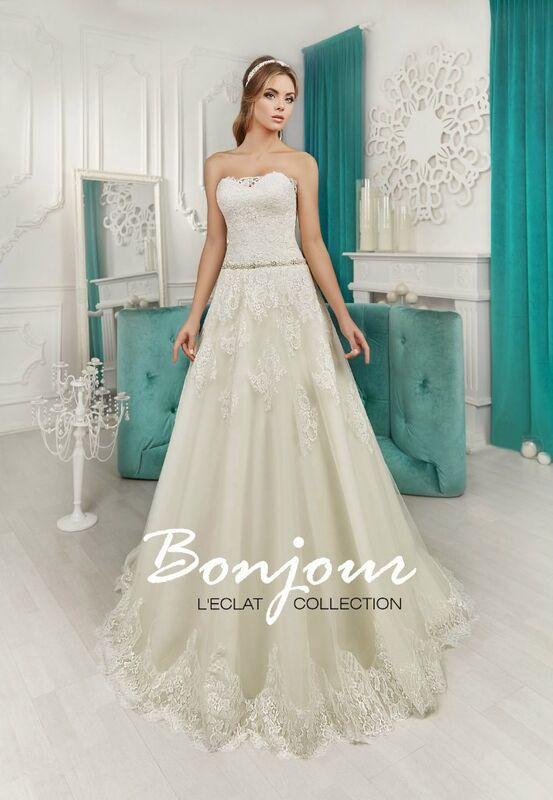 Свадебное платье напрокат Bonjour Платье свадебное «Roksana» из коллекции L'ECLAT 2016 - фото 1