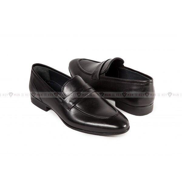 Обувь мужская Keyman Туфли мужские лоферы черные классические - фото 1