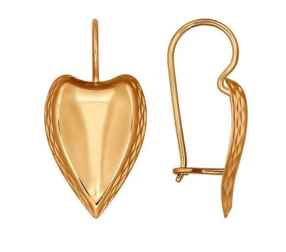 Ювелирный салон Sokolov Серьги из золота с алмазной гранью 027163 - фото 1