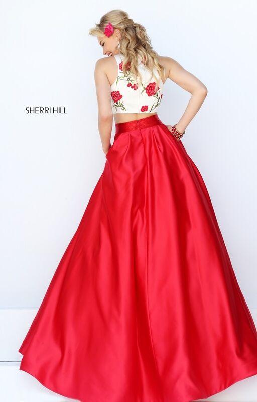 Вечернее платье Sherri Hill Кроп-топ 50232 - фото 3