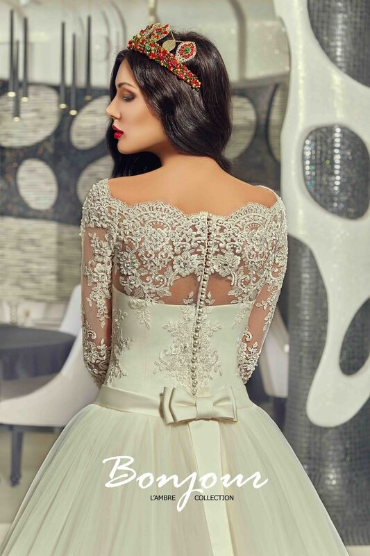 Свадебное платье напрокат Bonjour Платье свадебное «Queen» из коллекции LAMBRE 2017 - фото 4