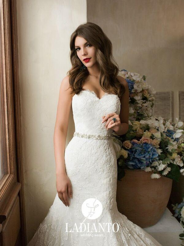 Свадебное платье напрокат Ladianto Платье свадебное Adelina D-7102 Abelarda - фото 3
