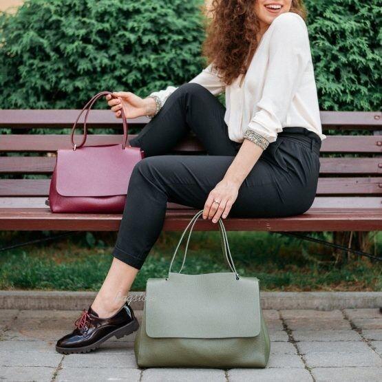 Магазин сумок Vezze Кожаная женская сумка C00515 - фото 2