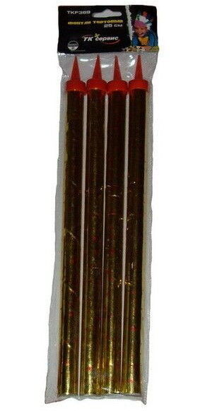 Фейерверк ТК сервис Тортовая свеча TKF 359, 4 шт - фото 1
