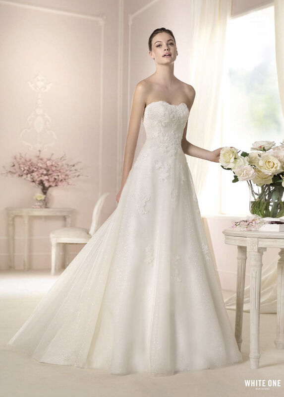 Свадебное платье напрокат White One (Pronovias) Платье свадебное «Darcy» - фото 1