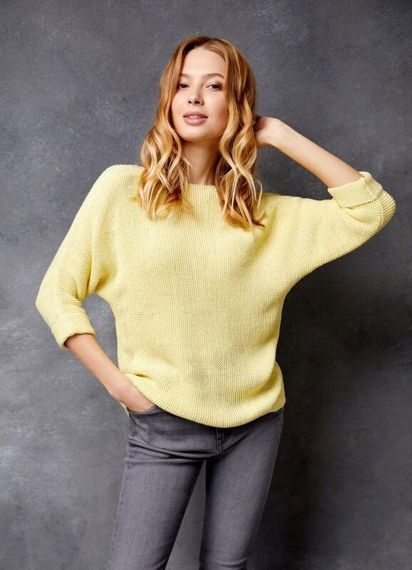 Кофта, блузка, футболка женская O'stin Джемпер структурной вязки LK4U31-33 - фото 2