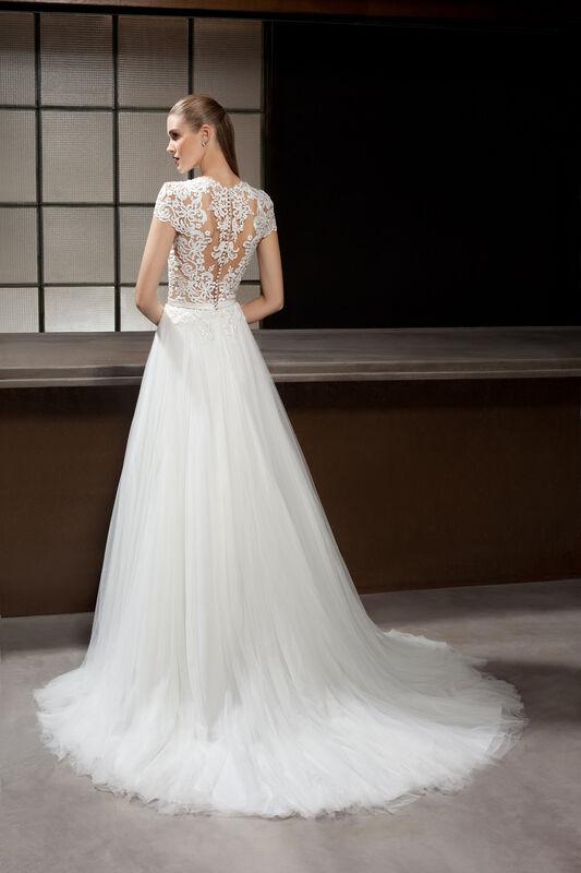 Свадебное платье напрокат Cosmobella Свадебное платье 7844 - фото 2