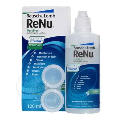 Уход за линзами Bausch & Lomb Раствор для линз ReNu Multiplus, 120 мл - фото 1