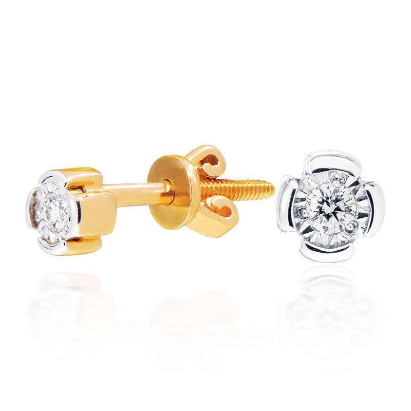 Ювелирный салон Jeweller Karat Серьги золотые с бриллиантами арт. 3222323/9 - фото 1