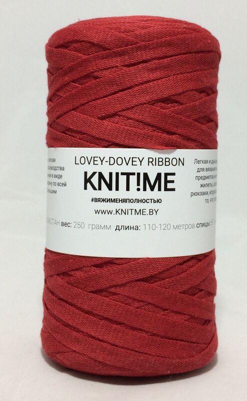 Товар для рукоделия Knit!Me Шнурочная пряжа Lovey-Dovey Ribbon - Клубничный джем (LRD14) - фото 1