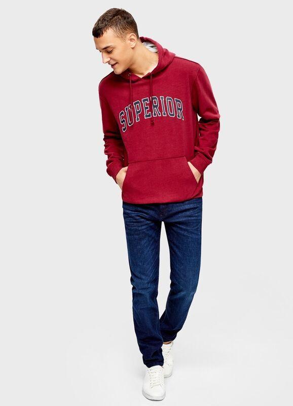 Кофта, рубашка, футболка мужская O'stin Худи с текстовым принтом MT4U31-X8 - фото 2