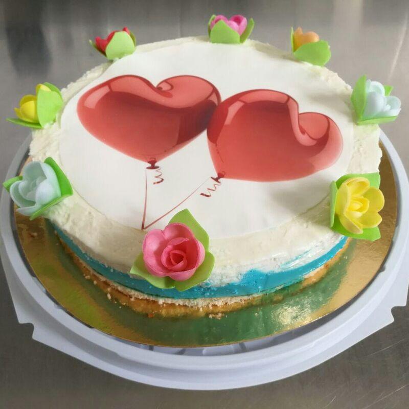 Торт Geldue Торт из мороженого «Сердца» - фото 1