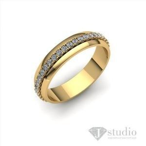 Ювелирный салон jstudio Золотое кольцо с вращающимся центром Ю-061К - фото 1