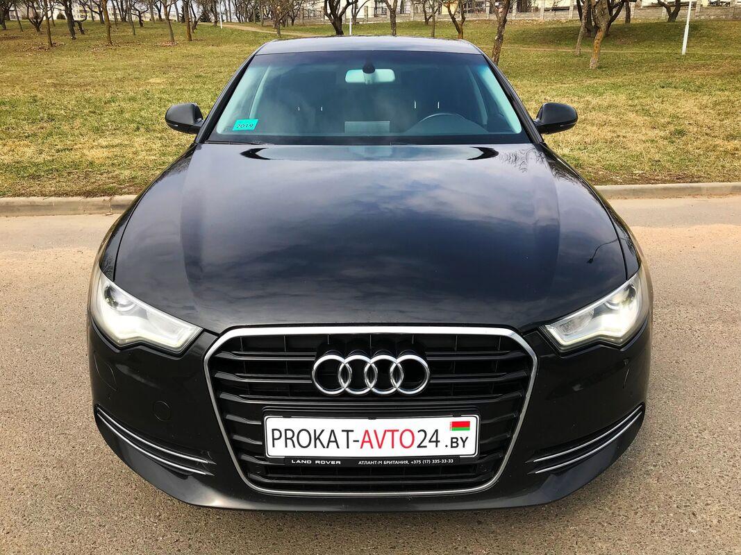 Прокат авто Audi A6 2014 черный - фото 3